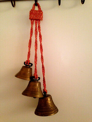 Antique Graduated Bells Bronze / Brass Chiantel Fondeur, Hangs 16""