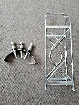 Wine Rack & 3 Bottle Stoppers with display Stand ~ Ikea