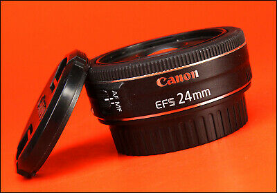 Canon EF-S 24mm F2.8 STM Pancake Lens  Sold with Front & Rear Caps