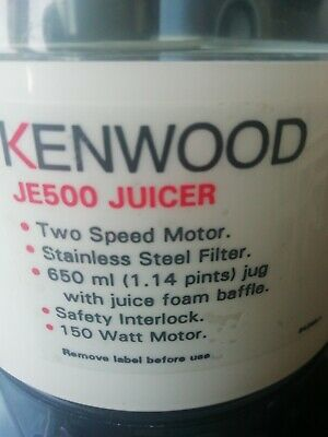 Kenwood Vita Pro-Active Juicer Je500