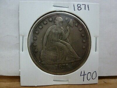 1871 Silver Seated Dollar