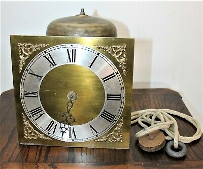 LOW RESERVE GOOD BIRDCAGE 30 HOUR CLOCK MOVEMENT 9 INCH BRASS DIAL Cir 1750s