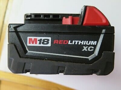 Milwaukee M18 Red Lithium-Ion 18V XC 5.0Ah Extended Capacity Battery 48-11-1850