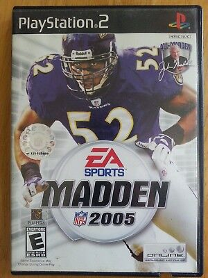Madden NFL 2005 (Sony PlayStation 2, 2004) Video Game Football 4 ps2 EA sports !