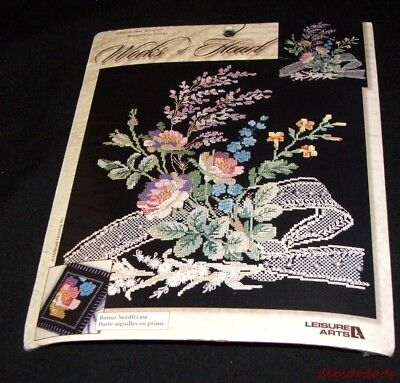 Leisure Arts Works of Heart Cross Stitch Kit Floral Bouquets 114513 Picture