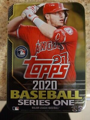 2020 Topps Series 1 Mike Trout Opened Tin 30 Cards included 14 RCs inserts.