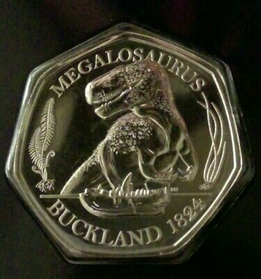 2020 Megalosaurus BU 50p Dinosaur Fifty Pence Coin In Blue Card