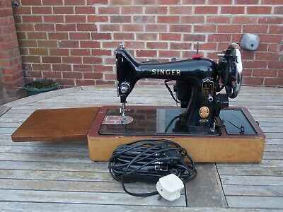 Rare Singer 99K Red `S` Free Arm Sewing Machine, Working Order With Accessories