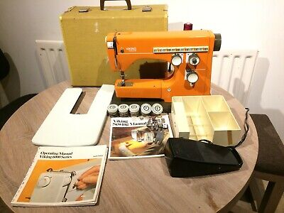 Viking Husqurvana 6430 Vintage Electric Sewing Machine with Embroidery Stitches