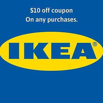 IKEA $10 Off  INSTANT DELIVERY-1COUPON ON ANY ITEMS INSTORE ONLY - 03/15/20