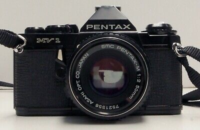 Pentax MV1 35mm Film SLR with 50mm f/2 Lens