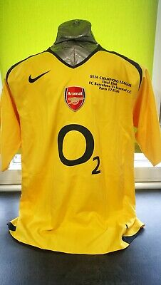 Shirt Arsenal Henry Final Champions 2006 /fc Barcelona.Messi. Nike.