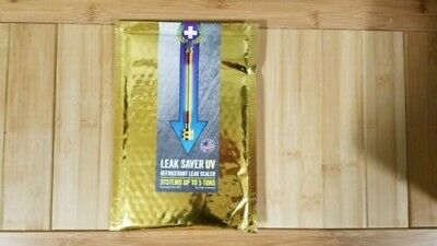 LEAK SAVER, Direct Inject UV, A/C Refrigerant Leak Sealer, - Up to 5Tons, NEW