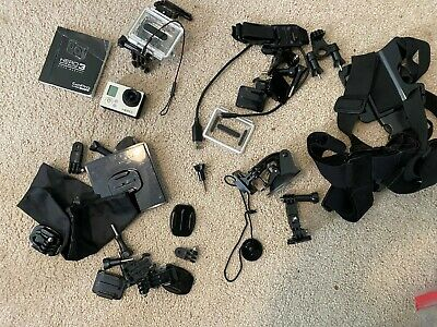 GoPro HERO3 White Edition 16 MB Camcorder -  White (Silver Edition) many accesso