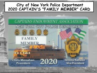 "2x 2020 NYC Police CAPTAINS CEA ""FAMILY MEMBER"" & FREE CARD -NOT PBA SBA DEA LBA"