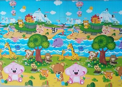 Baby Kids Play Rug Floor Mat Double Sided