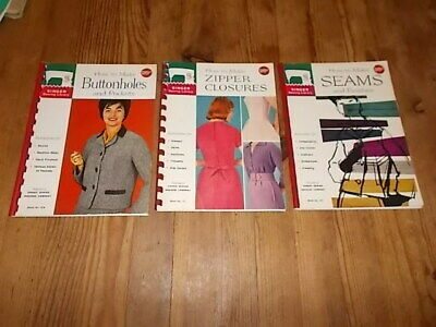 SINGER SEWING MACHINES Booklets How to make seams buttonholes zipper closures