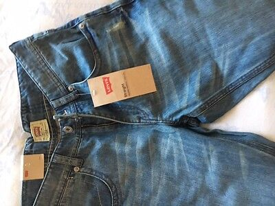 Boys Age 14 Levis  Blue Distressed Denim Bermuda Shorts Tagged 100% Authentic