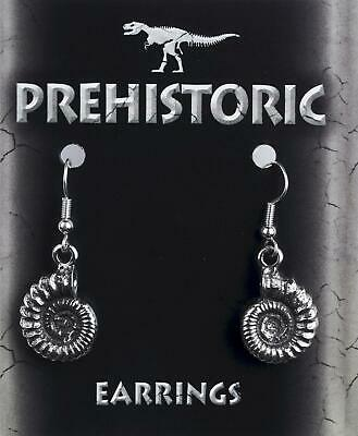Stunning Ammonite Pewter Earrings - Great Gift For Fossil Lovers