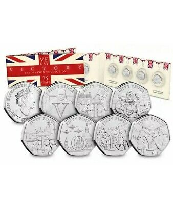 2020 IOM Complete Victory BU 50p Coin Collection