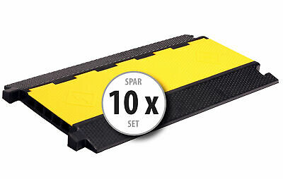 10x 5-Channel Cable Protector Ramp Safety Conduit Wire Cover Heavy Duty 7.5T Set