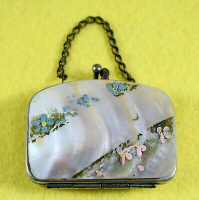 Vintage Art Deco Mother Of Pearl Coin Purse