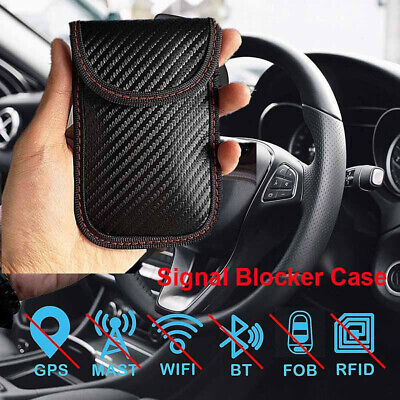 Signal Blocking Bag Cover Blocker Case Faraday Pouch For Keyless Car Keys CA.