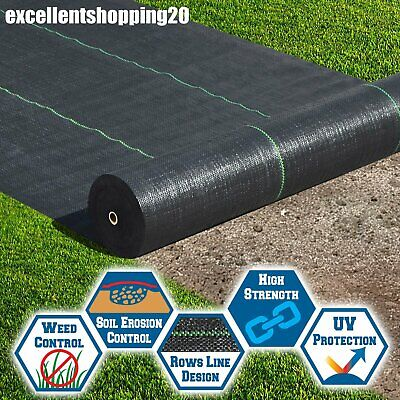 Heavy Duty Ground Cover Fabric Landscape Woven Weed Control Membrane 2/3/4m wide
