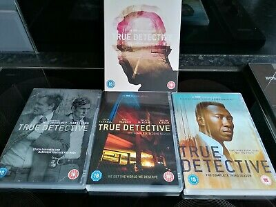 TRUE DETECTIVE Complete Series Seasons 1,2&3 DVD BOX SET With Bonus Features