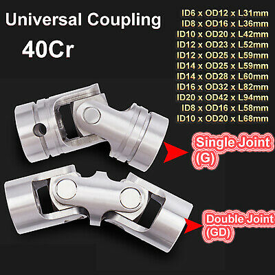 Shaft Coupler Flexible Single/Double Joint Universal Coupling CNC Motor 40Cr