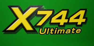 John Deere X744 lower hood decal set of 2 for a X744 tractor M154122