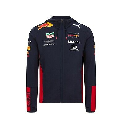 Aston Martin Red Bull Racing 2020 Team Hooded Sweat Jacket Free UK Shipping