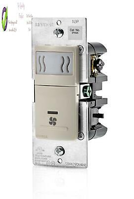 Leviton Iphs5-1Lt Decora In-Wall Humidity Sensor  Fan Control , 3A, Single Pole