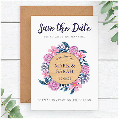 PERSONALISED Wedding Save The Date Fridge Magnets Spring Summer Autumn Winter