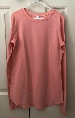EUC Ivivva by Lululemon Long Sleeve Tee Top Coral Thumbholes Size 14