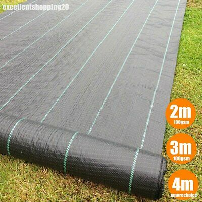 Heavy Duty Weed Control Fabric Membrane Garden Landscape Ground Cover Sheet  Mat