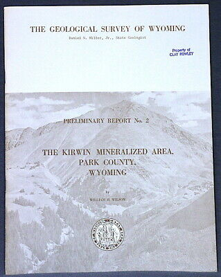 WYOMING ORE DEPOSITS at KIRWIN and KEYSTONE Gold! Copper! Old Mines! SCARCE!