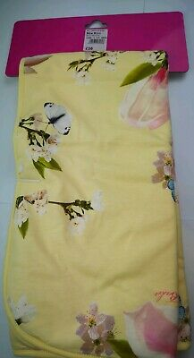 TED BAKER BABY GIRLS yellow with flowers BLANKET BRAND NEW ON BOARD CURRENT