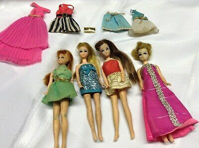 Vintage Lot 4 1970 Topper Dawn Dolls Clothes As Is Free Shipping
