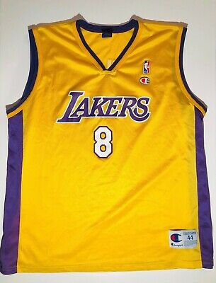 Authentic Rookie KOBE BRYANT #8 LA LAKERS Throwback Jersey Champion 44 L