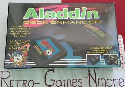 ALADDIN DECK ENHANCER For Nintendo NES, Authentic, Fast ship, Sealed, LOOK WELL!