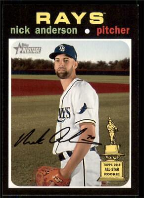 2020 Topps Heritage Base #316 Nick Anderson - Tampa Bay Rays