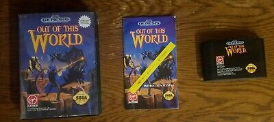 Out of This World (Sega Genesis, 1994) Complete! Works! Video Game! EX!