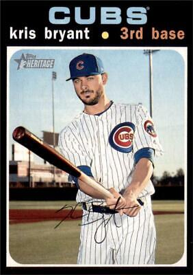 2020 Topps Heritage Base #291 Kris Bryant - Chicago Cubs