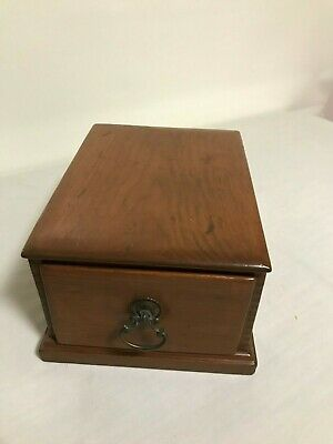 Antique Wooden Box with Drawer - Tongue and Groove Corners