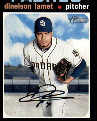 2020 Topps Heritage Base #176 Dinelson Lamet - San Diego Padres