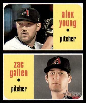 2020 Topps Heritage Base #93 Alex Young Zac Gallen RC