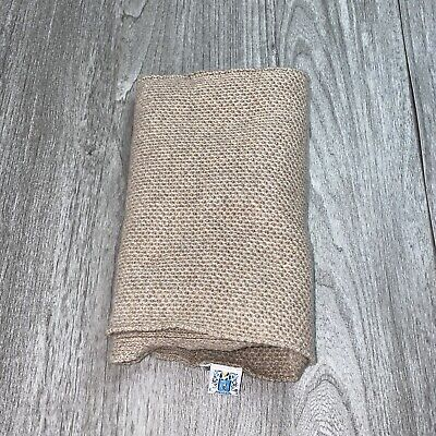 PORTOLANO BEIGE 100% CASHMERE Long Scarf GOOD In MADE IN PHILIPPINES