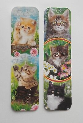 Cats 2pcs Cardboard Bookmarks 6.5'' lenght (16cm).