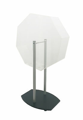 Acrylic Raffle Drum with Wheels, Floorstanding - Clear & Black 119571